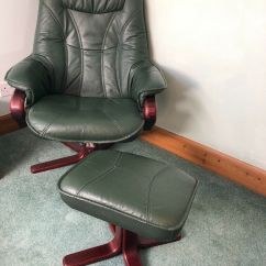 Chair And Matching Stool Gaming Pc World Uk Dark Green Leather Arm In Dunfermline Fife