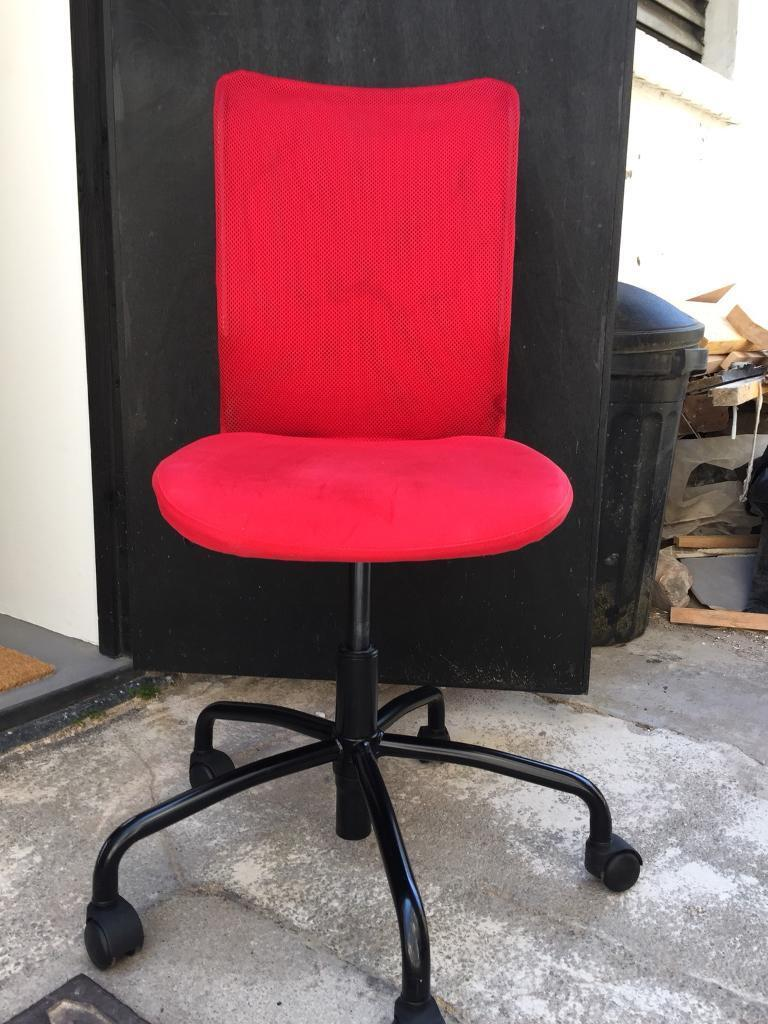 red desk chair ikea booster seats for toddlers in new town edinburgh gumtree