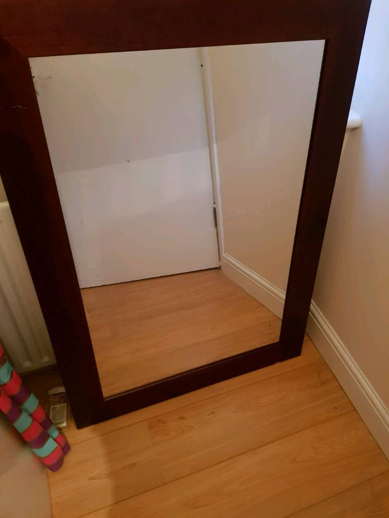 LOOK Beautiful Big Wall Mirror Solid Wood Frame 106cm X 76cm CHEAP PRICE In Enfield