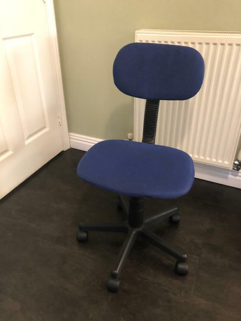 fishing chair argos wicker reclining patio home gas lift height adjustable office blue in norwich