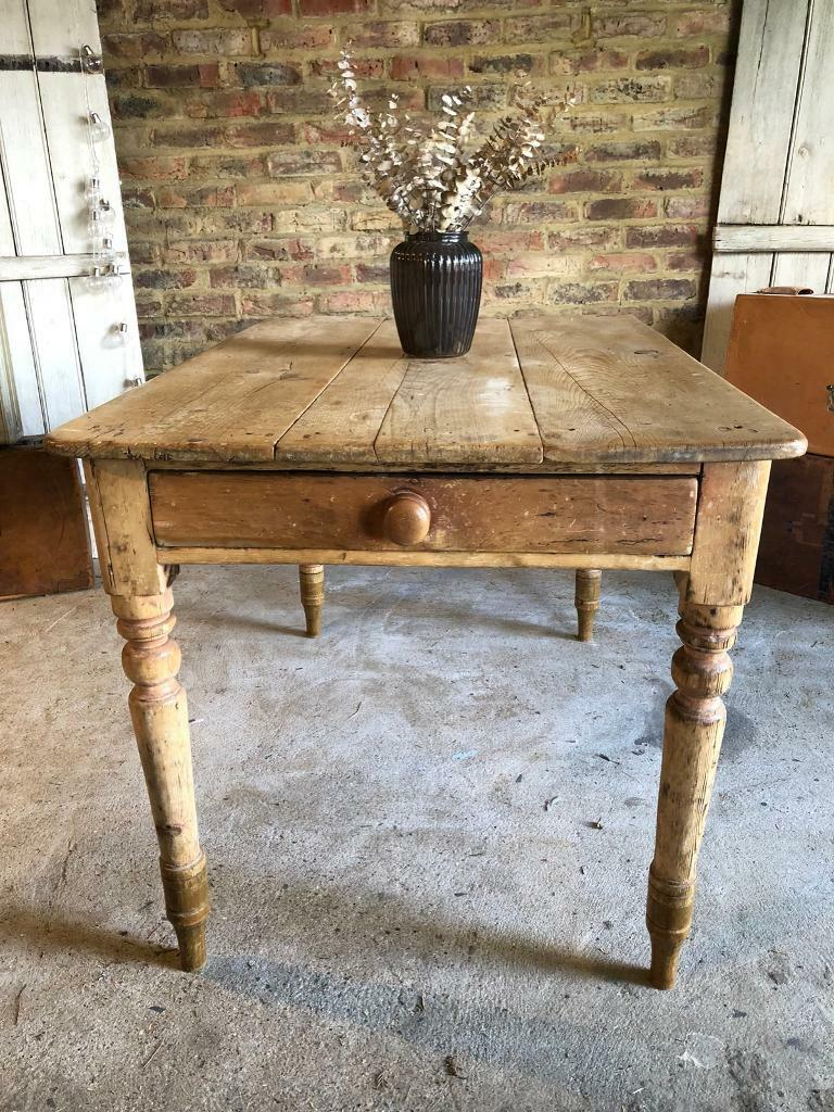 pine kitchen table walmart islands sale rustic farmhouse dining 4 6 seater in worcester