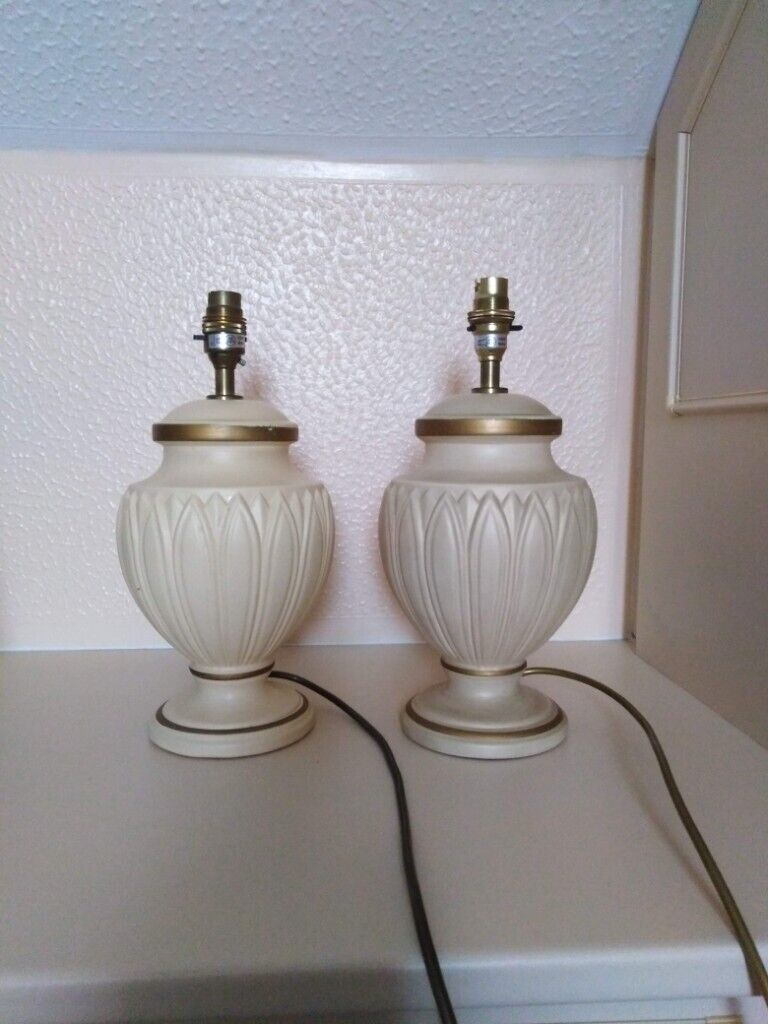 Pair Of Bhs Grecian Style Cream Table Lamp Bases In Fareham Hampshire Gumtree