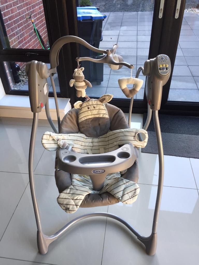 graco swing chair zebra walmart lounge folding lovin hug baby seat in newtownabbey county