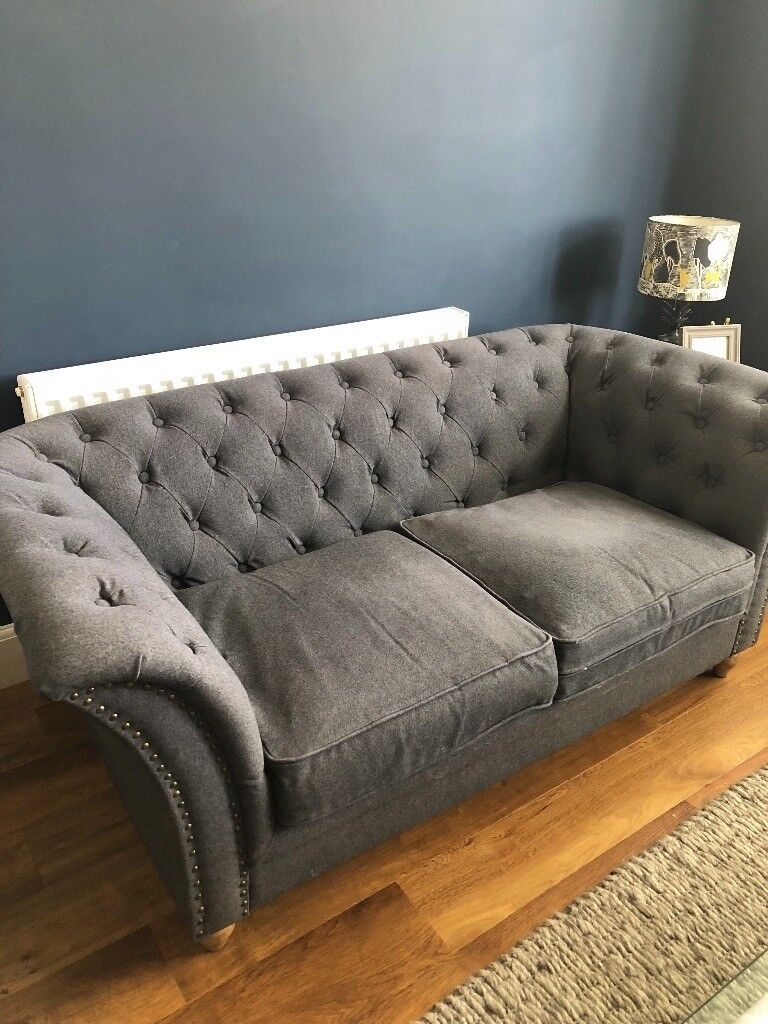 chesterfield sofa material fabric corner sofas northern ireland charcoal grey in radcliffe on trent