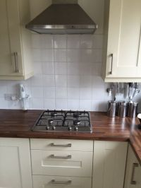 Kitchen units including oven, hob, extractor fan, sink ...