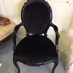 French Velvet Chair Leg Sleeves Salon With Wood Frame Delivery Available Furniture
