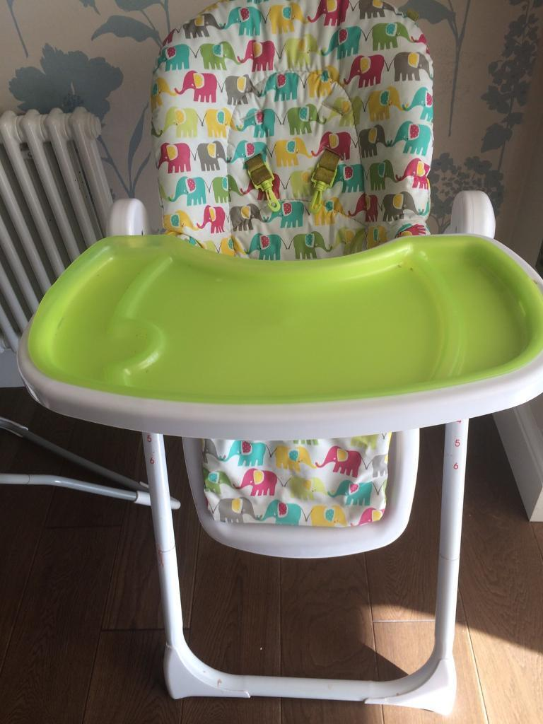 elephant high chair reclining camp mothercare design in barlborough derbyshire