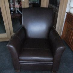 Bedroom Chair M&s Covers For Plastic Chairs Weddings Dark Brown Leather Reclining M S In Excellent Condition