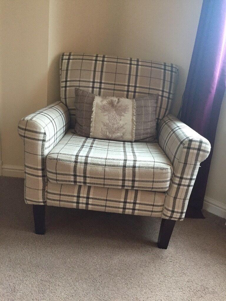 leather sofas second hand glasgow art van sleeper sofa full tartan armchair | in moodiesburn, gumtree