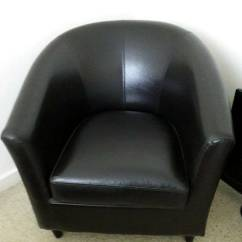 Tub Chair Brown Leather Zinger Accessories In Bearsden Glasgow Gumtree