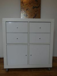 Ikea White Expedit Shelving Unit Cube with Kallax Drawer ...