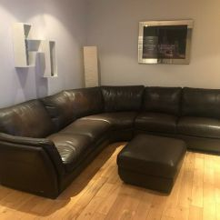 Corner Sofas Glasgow Gumtree Leather Sofa Bed Brown Dfs With Footstool In East End