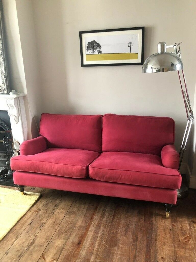 bluebell sofa gumtree soho large clic clac bed com 2 5 seat in raspberry used as an occasional only