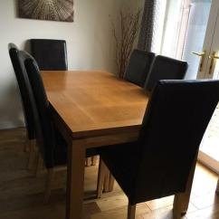 Western Kitchen Table Farmhouse Faucet Oak Dining Includes 6 X Free Chairs In Kelvindale Glasgow