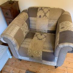 Sofa Warehouse Leicestershire Jennifer Convertibles Disassembly Dfs Chair Country Patch Armchair Stag Fabric In Shepshed