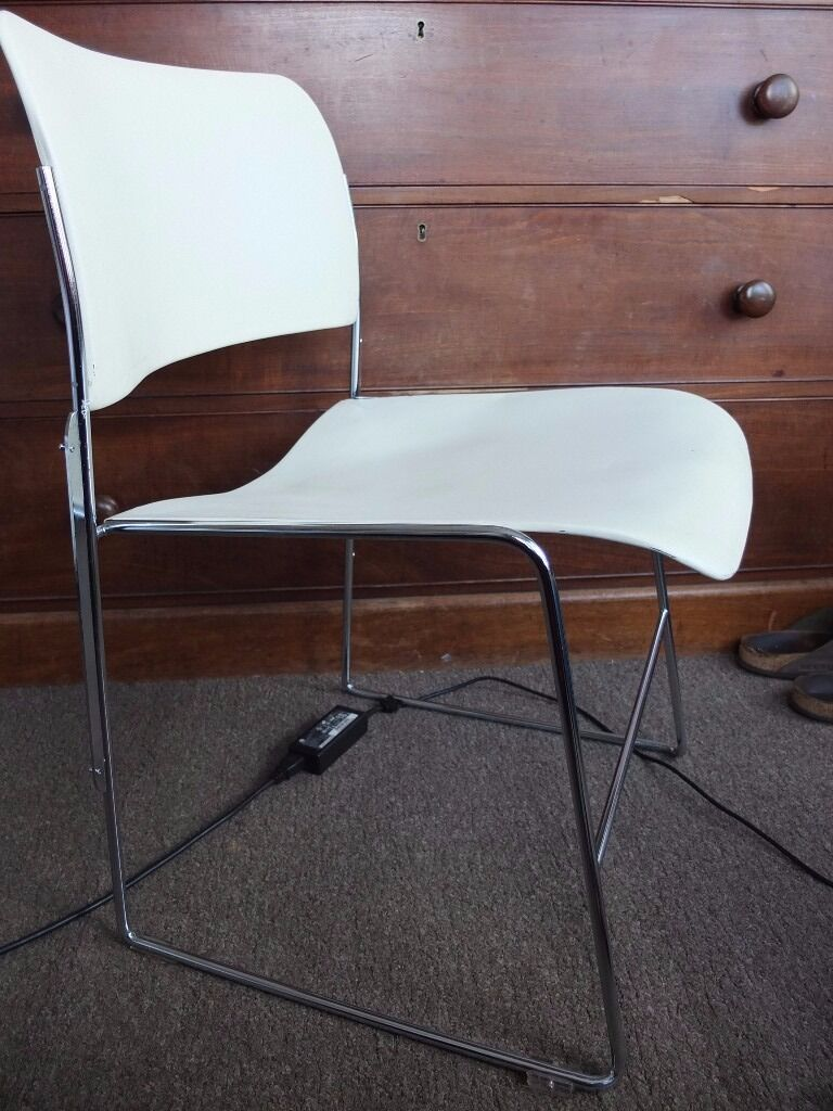 david rowland metal chair coleman oversized quad with cooler pouch 3 x 40 4 chairs 1974 cream stackable 60 ono