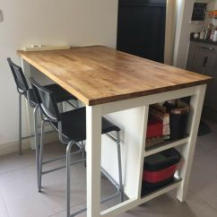 Kitchen Island Table Ikea Granite With 2 High Chairs In London Gumtree