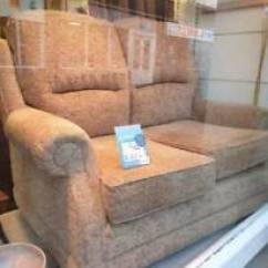 Fairmont Sofa Laura Ashley Poltrona Bolzano Two Blue Seater Sofas In Stroud Small 2 Seat Brown Patterned Fabric Like New