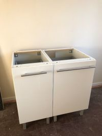 IKEA Ringhult high gloss white kitchen units including ...
