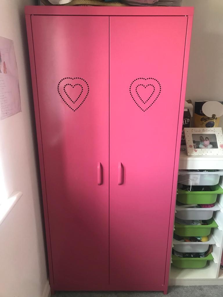 Girls Pink Next Locker Wardrobe  in Barnard Castle