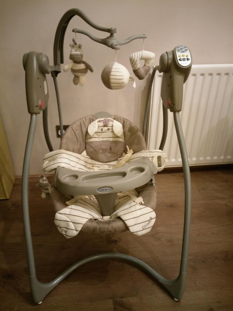 graco swing chair zebra kmart high ads buy sell used find right price here baby chairin anfield merseyside 3 recliner position