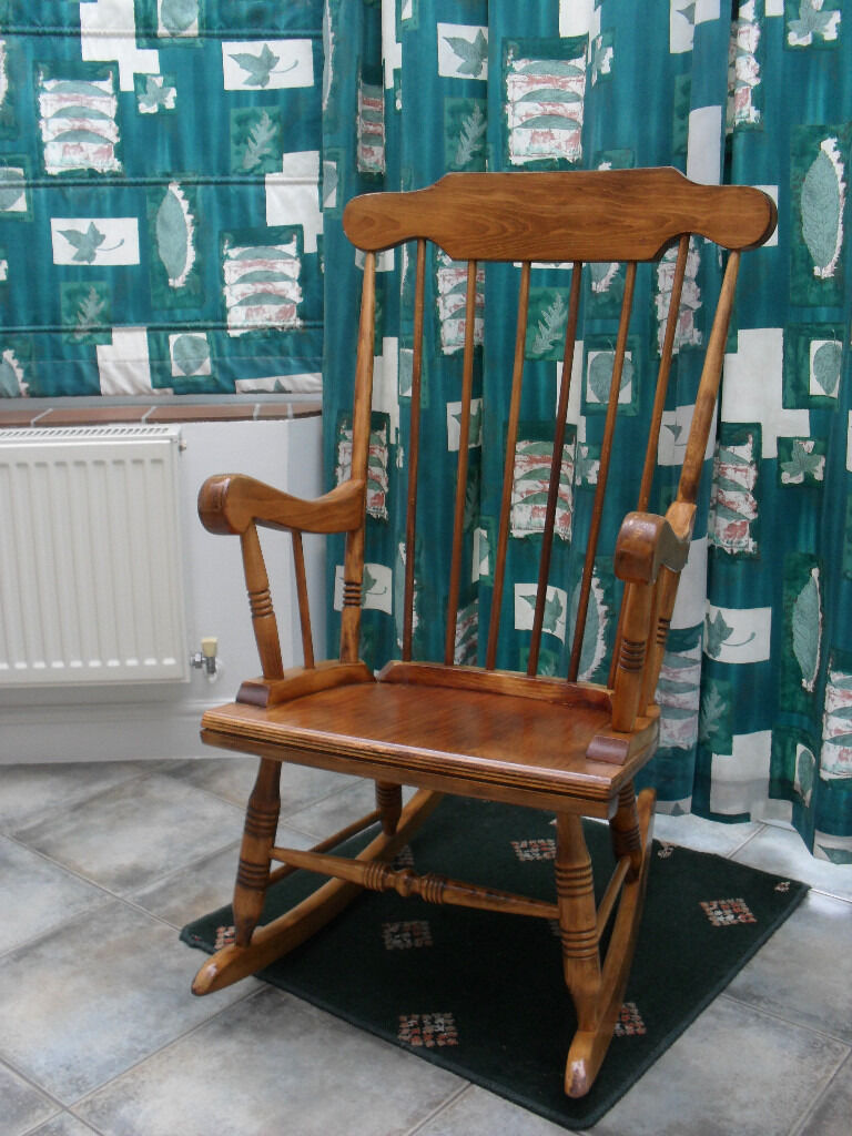 Rocking Chair In Antique Pine  In Rushmere St Andrew