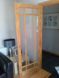 Glass Panelled Interior Pine door