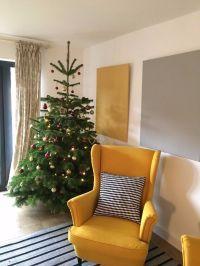 Yellow armchair / wing back chair (IKEA Strandmon) | in ...