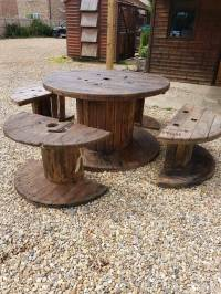 Garden table furniture outdoor Cable reel table and chairs ...