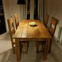 Oak Kitchen Tables High Chair For Counter Solid Dining Table And Chairs In Hartlepool County Durham