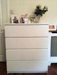White 4 drawer Ikea Malm chest of drawers | in Old Street ...