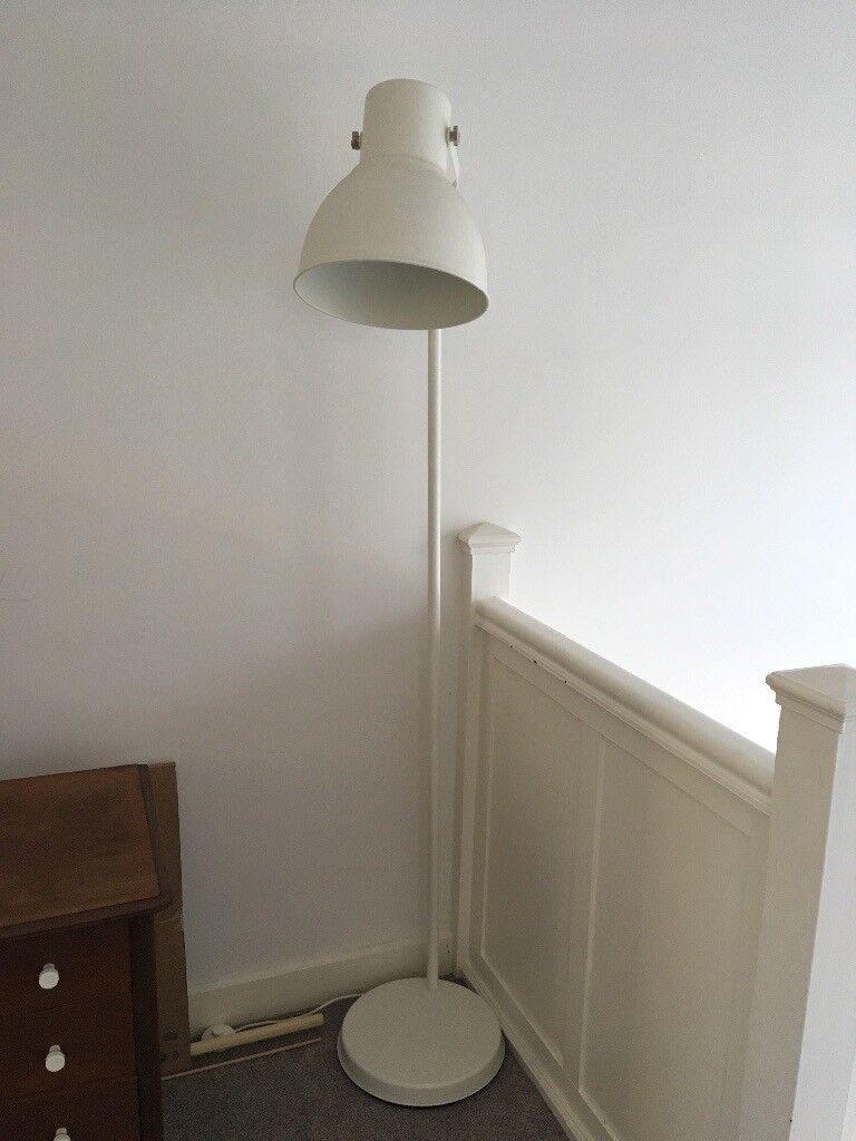 Ikea hektar floor lamp white industrial retro