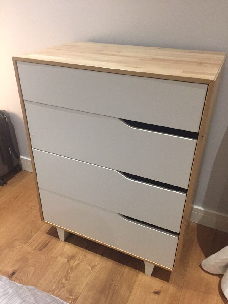 IKEA Mandal discontinued WhiteNatural 4 drawer dresser  in St Johns Wood London  Gumtree
