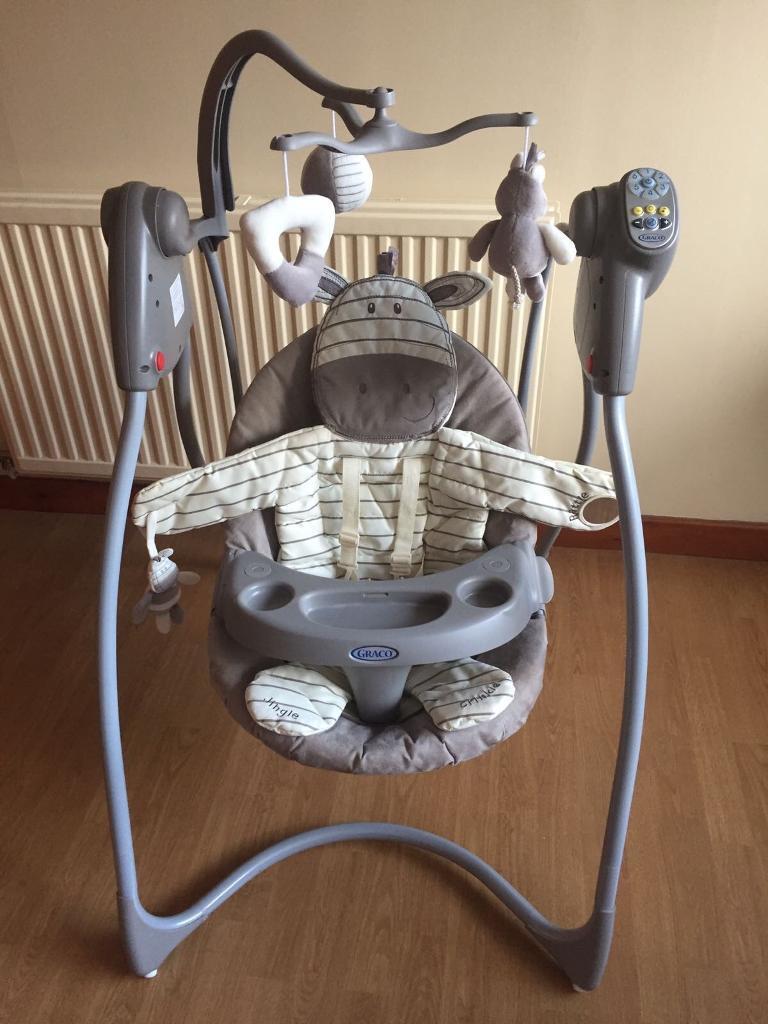 graco swing chair zebra crazy creek chairs ziggy in cheltenham gloucestershire gumtree