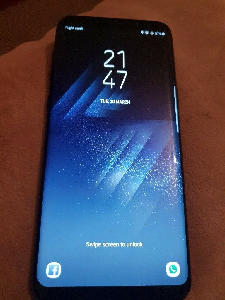 Samsung Galaxy S8 Plus Midnight Black 64gb Like New In