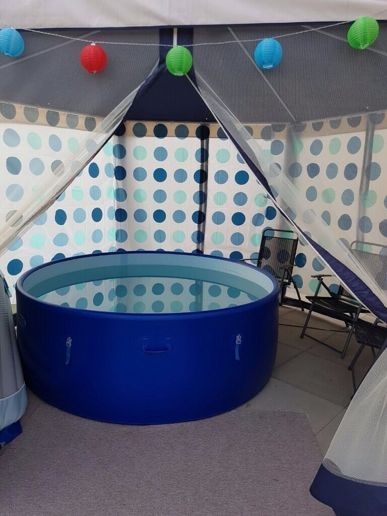 wrought iron table and chairs lime dining lazy spa hot tub with gazebo   in ammanford, carmarthenshire gumtree