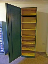 TALL VINTAGE INDUSTRIAL METAL SHELVED CABINET CUPBOARD ...