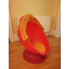 Revolving Chair Thames Camping Accessories Egg In Surrey Stuff For Sale Gumtree Ikea Lomsk Children S Spinning Swivel Red Orange With Hood