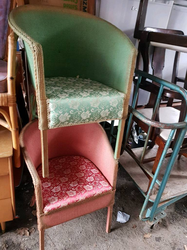 bedroom chair on gumtree how to make covers for a wedding vintage loom style chairs in newport