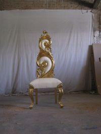 Gold leaf throne chair gilded - antique - asian wedding ...