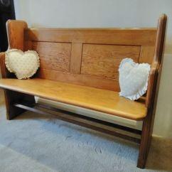 Pine Kitchen Bench Backsplash Design Ideas Antique Church Pitch Pew Hall Seat In