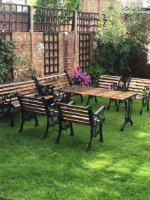 cast iron garden furniture 7pcs