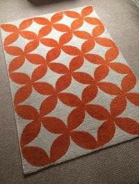 Orange Geometric Rug - Rugs Ideas