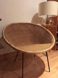 **SOLD**Vintage Retro Mid Century Rattan Cone Chair | in ...