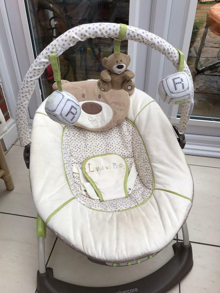 baby chair that vibrates used party tables and chairs for sale mothercare with belt plays music in barry