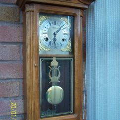 Vintage Oak Dining Chairs Acrylic Office Chair Highlands Chiming Wind-up Pendulum Wall Clock   In Whitnash, Warwickshire Gumtree