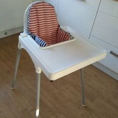 Ikea High Chairs Grey Leather Swivel Chair Antilop And Cushion With Replacement Cover In