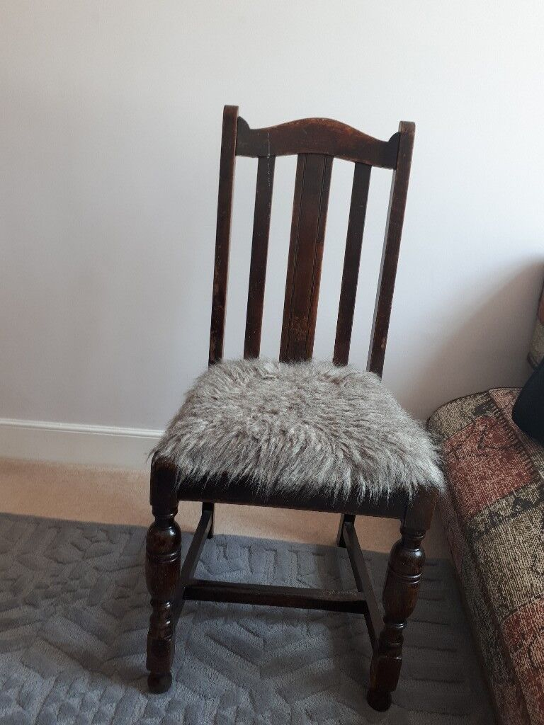 unusual wooden chair ideas for covers with furry seat in west end edinburgh gumtree