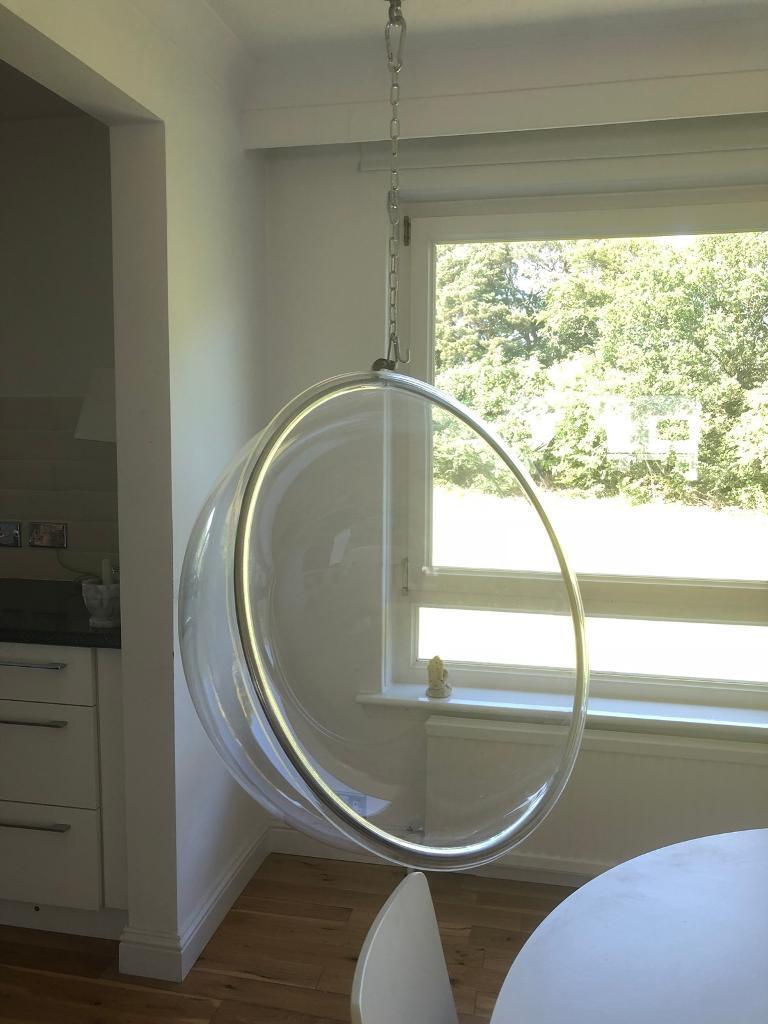perspex hanging chair and a half leather acrylic bubble in newton mearns glasgow