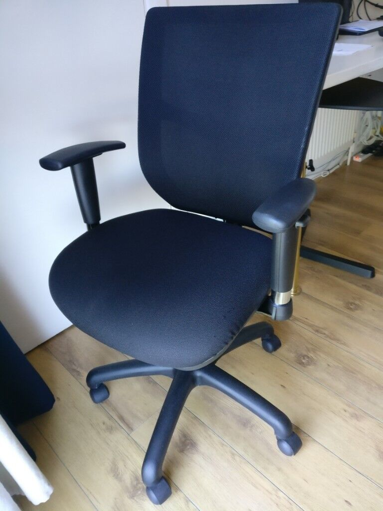 zaaz ergonomic chair mesh back black office one year life in east finchley london